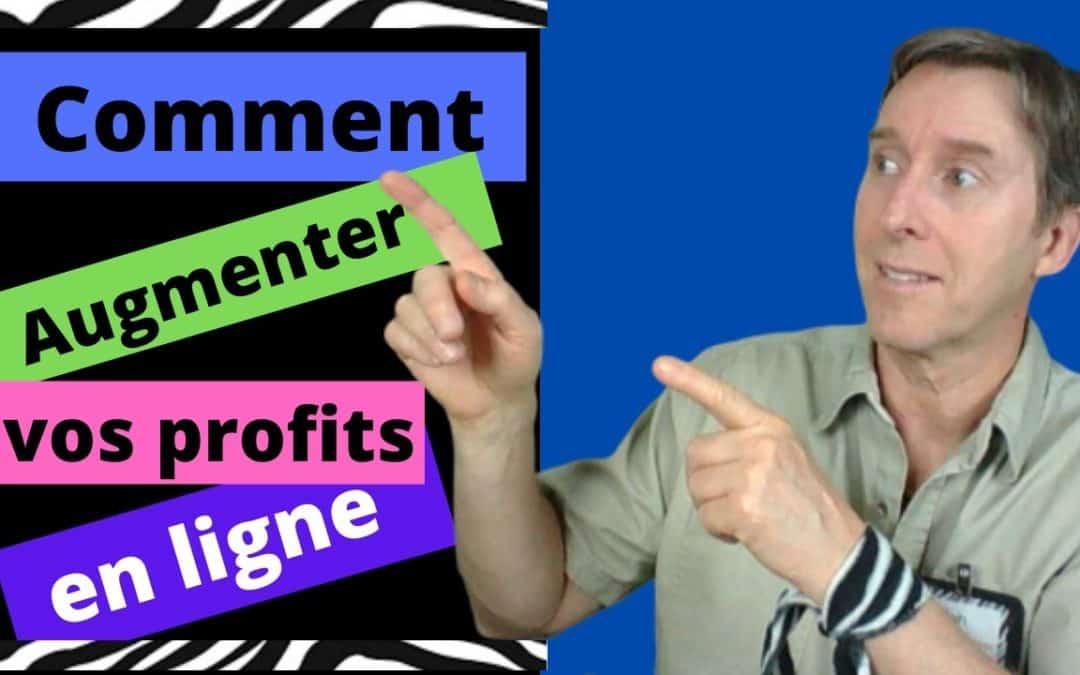 Comment augmenter profits en ligne